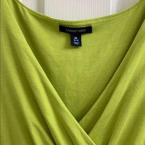 Lands' End Dresses - 🦋 Lands End Chartreuse maxi dress Med